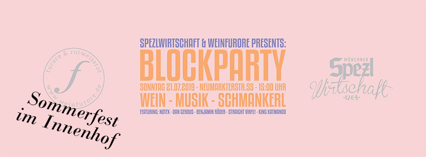 Blockparty am 21.7.