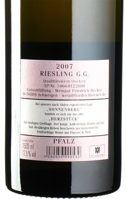 Riesling Sonnenberg GG 2007 Magnum